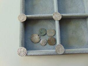 Medieval 8 pieces Silver denarius+1 Bronze denarius 14th-15th-16th-17th LOT!