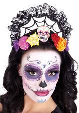 Ladies Day Of The Dead Sugar Skull Headband Calavera Crown Headdress Halloween