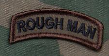 Mil-Spec Monkey Rough Man Tab Morale Patch - Olive Hook Back