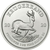 2020 Silver Krugerrand 1oz .999 Silver Bullion Coin - South African Mint