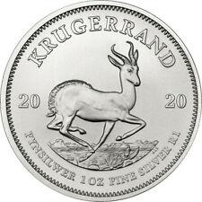 2020 Silver Krugerrand 1oz .999 Silver Bullion Coin - South African Mint