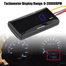 Universal Motorcycle Blue Backlight LCD LED Digital Mini Tachometer Speed Meter