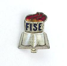 #e7078 Original altes DDR Abzeichen FISE Weltverband der Lehrergewerkschaften