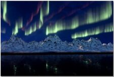 AURORA - CUSTOM FRAMED CANVAS PRINTS.LARGE SELECTION OF SIZES-CHOOSE YOURS!