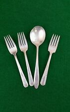 VTG Silver Plate Flatware 4 Piece Mixed Lot Forks & Serving Spoon, Wind chimes