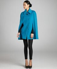 New $2195 Celine Alpaca Wool Blue Cape Jacket Coat 38-F6