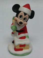 Mickey Mouse Santa in Chimney Christmas Figurine Disney Gift-Ware New Old Stock