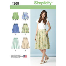 Simplicity Sewing Pattern 1369 Misses 14-22 Flared Gathered Skirts 3 Lengths