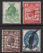 "GB, 1929 ""UPU Congress"" full set of 4 SG434/7 used."