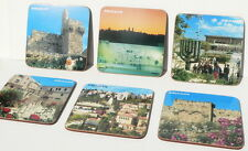 JERUSALEM Set 6 COASTERS CUP/ MUG Kotel Western Wall,Golden Gate,David Tower