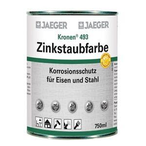 Jaeger Kronen Zinkstaubfarbe 493, hochfeiner Korrosionsschutz, 750 ml (43,86€/L)