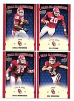 2011 Upper Deck Oklahoma Sooners NCAA All Americans Complete Insert Set 16 Cards
