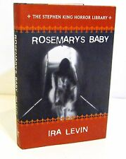 ROSEMARY'S BABY by IRA LEVIN  HCDJ - THE STEPHEN KING HORROR LIBRARY