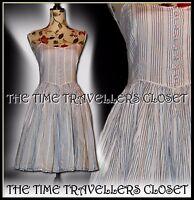 Topshop Kate Moss Nautical Limited Edition Blue Stripe Vintage 50s Dress UK 8 10