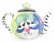 Cat Collectable Teapot Ceramic Abstract Design Colourful