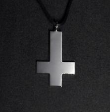 Upside Down Cross Pendant Necklace Satanic Cross Reversed Cross Inverted Cross