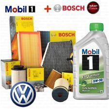 Kit tagliando olio MOBIL 1 ESP 5W30 5LT 4 FILTRI BOSCH GOLF 5 V 2.0 TDI BKD