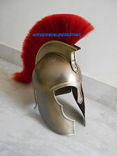 Troy Armor Helmet ~ Medieval   Replica Militaria With Red Plum