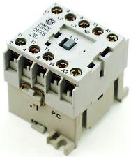 New GE Miniature Din Rail Magnetic Contactor CR6CBB 220VAC COIL CA4-9-10-220