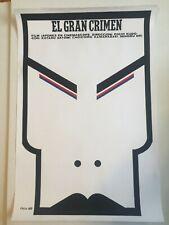 Cuban original handmade SILKSCREEN movie poster.The great crime.Japanese film