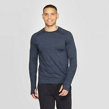 Mens C9 Champion Long Sleeve Nylon Tshirt Jetson Blue Xxl