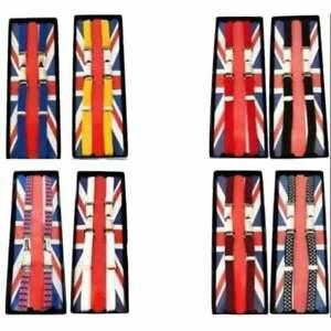 "Union Jack Classic 1/2"" 14mm Thin Braces Suspenders Ska Skinhead Punk Mod Wear"