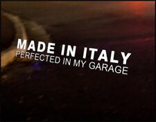 MADE IN ITALY JDM Decal vinyl sticker, Fiat Punto 500 Alfa Bravo