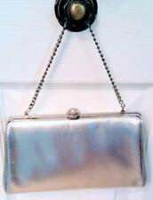 Clutch silver vintage evening bag short chain classic bridal prom rhinestone