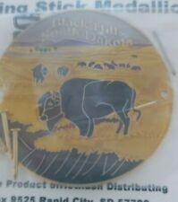 SOUTH DAKOTA Walking Stick Medallion NIP Black Hills Buffalo Grazing Multi Color