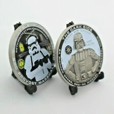 challenge coin   military police CID DARTH VADER  afghanistan KABUL 2 INCH