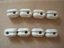 8pcs Antenna Glazed Ceramic Insulator for Antenna Dipole, LW, Sloper, Type Egg