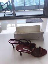 Manolo Blahnik Sandal High Heels 37 red