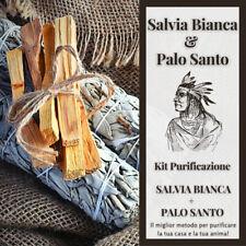 Kit Incenso Salvia Bianca Californiana Palo Santo Purificazione Fumigazione