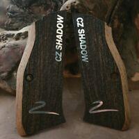 CZ SHADOW 2  Walnut Grips with Silver ((not 1 just Shadow 2 )
