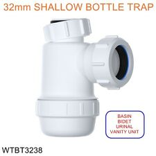 32mm Waste Basin Bidet Urinal Shallow Bottle Trap 38mm Seal *CHEAPEST ON EBAY*
