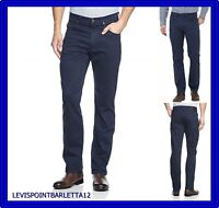 Pantaloni jeans lee brooklyn uomo cotone estivo regular fit dritto vita alta blu
