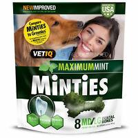 6 Vetiq MINTIES Dog Dental Bone Treats Chews Treats For Dogs