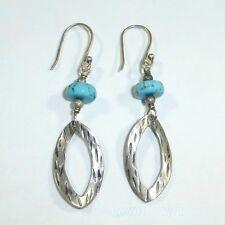 23f34a8c2 New ListingSilpada Turquoise Sterling Silver Oval Earrings W1862 .925 Blue  Bead Drop