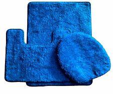 3 Piece Luxury Acrylic Bath mat set Made with 100% Polypropylene ( Royal Blue )