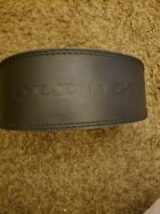 "Gold's Gym Leather Weight Lifting Belt Black Back Support 22""- 33"" S/M"