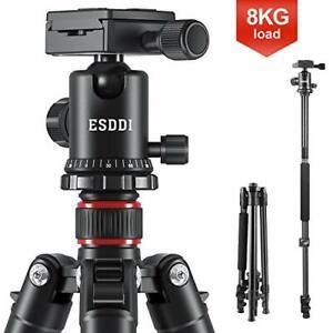 Camera Tripod, ESDDI 64 Inches Aluminum Tripod with Monopod 360 Degree Ball Head