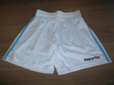 MACRON BOYS SHORTS WHITE WITH SKY BLUE SIDE STRIPES SIZE 140CM 10 YEARS