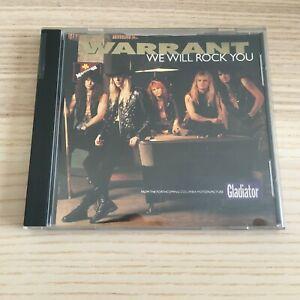 Warrant _ We Will Rock You _ CD Single PROMO _ 1992 Columbia USA _ Queen RARO!