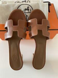 Hermes Gold Oasis Sandal 36.5