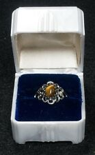 Sterling Silver Cat's Eye Ladies Ring Size 6.5