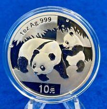 2008 China 1 Oz. Panda 10 Yuan .999 Silver Original Holder
