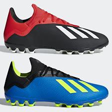 adidas X 18.3 AG Mens Football Boots Artifical Grass 3G 4G ALL SIZES Black Blue