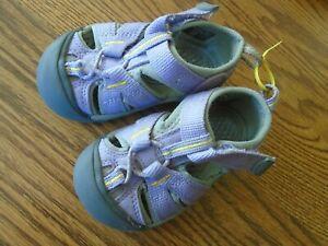KEEN size 5 infant lavender & gray waterproof sport sandals, adj. strap Ex.