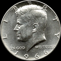 """A 1966 P Kennedy Half Dollar 40% SILVER US Mint """"About Uncirculated"""""""