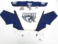 SWIFT CURRENT BRONCOS WHL AUTHENTIC PRO WHITE REEBOK HOCKEY JERSEY SIZE 54